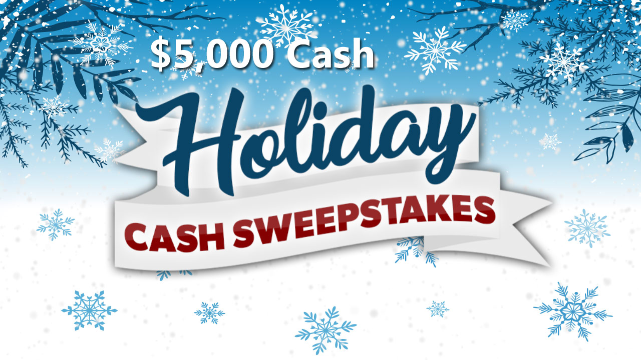 QUICK ENDING! Enter The View's Winter $5,000 Cash Sweepstakes