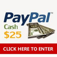Enter to win $25 Paypal cash