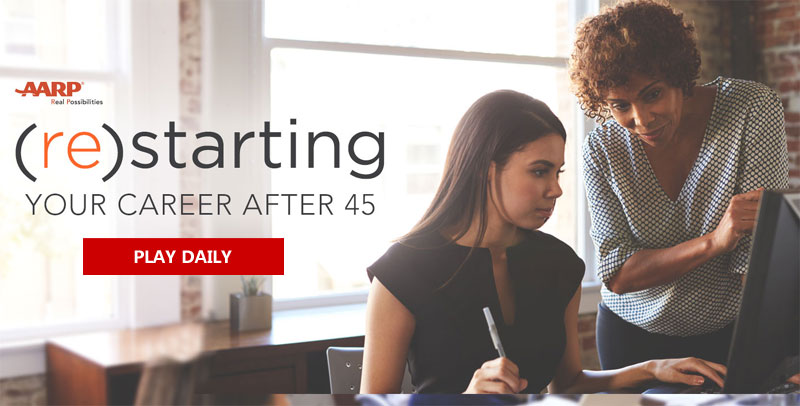 Enter the AARP (re)starting Your Career After 45 Sweepstakes for your chance to win computer, a laptop bag, and a 1,000 Visa gift card.