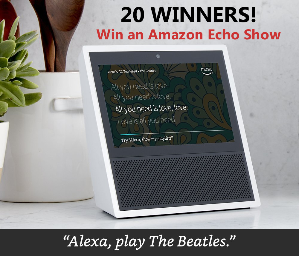 reveal my entries sweepstakes quick ending amazon music holiday echo show giveaway 20 3347