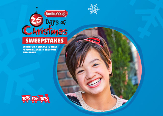 """one winner will win a trip to Los Angeles to team up with """"Andi Mack"""" Peyton Elizabeth Lee"""