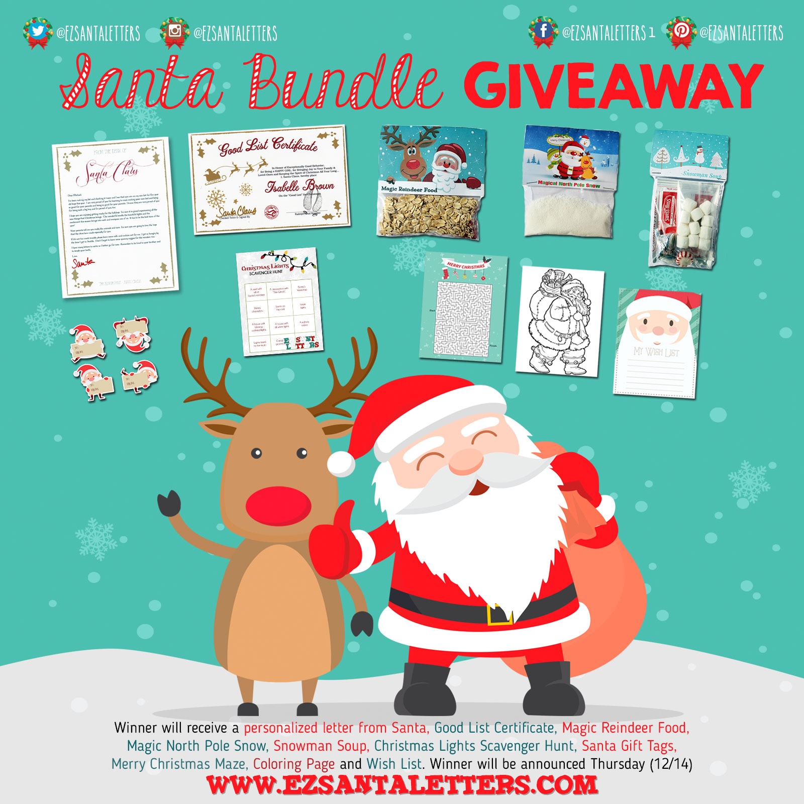 Free Santa Letters to kids