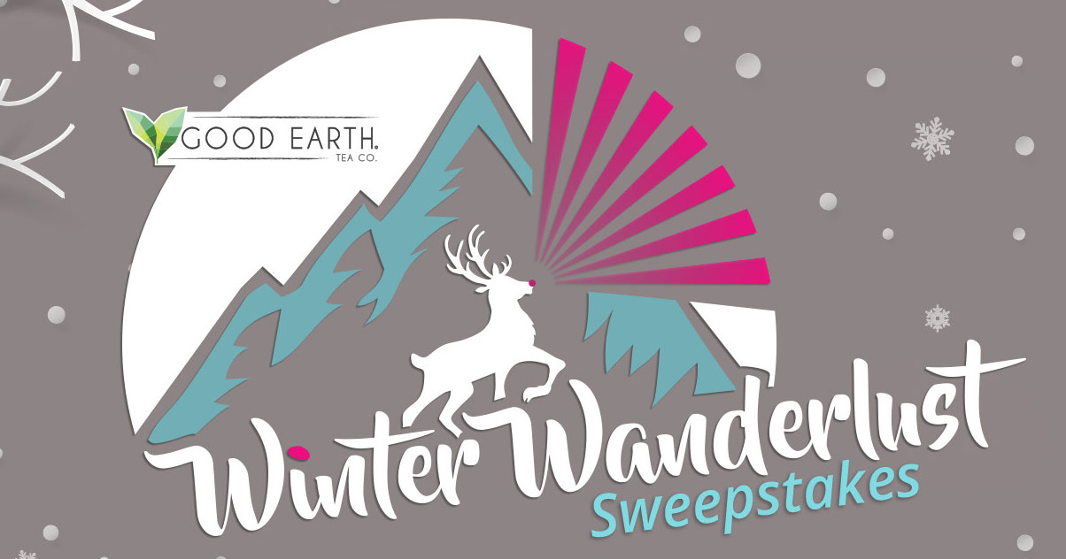 Play theGood Earth Teas Winter Wanderlust Instant Win Game for your chance to win a trip for 2 to Iceland or $2,250 in cash. Plus fifteen other winners will receive a Good Earth holiday prize pack.