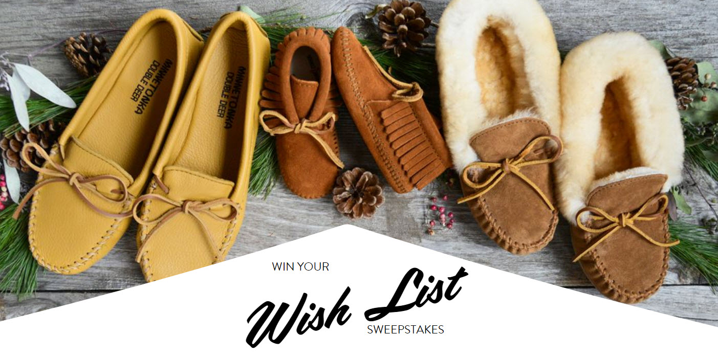 Win your Minnetonka wish list -From a favorite pair of fringe boots to those cozy new slippers you've been eyeing