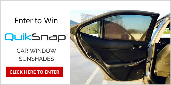 Enter to WIN a customized QuickSnap car window sunshades for all four windows, designed for your car
