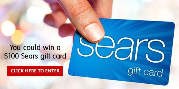 Enter to win a $100 Sears gift card