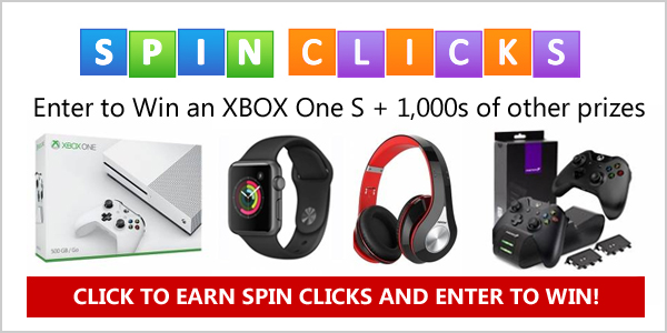 Win an XBOX One S from SpinClicks.com