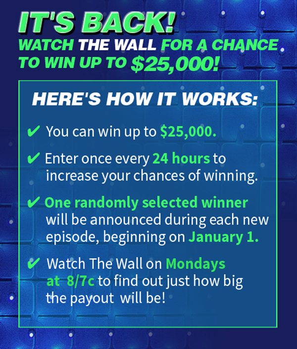 NBC's The Wall Win at Home $10,000 Cash Sweepstakes