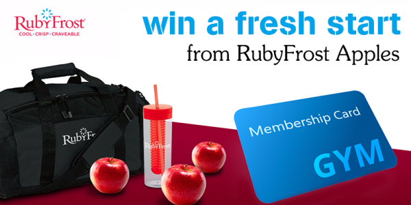 RubyFrost Apples put together 3 weeks of recipes and tips to help you keep your New Year's resolutions. One lucky winner will get a FREE year's gym membership!