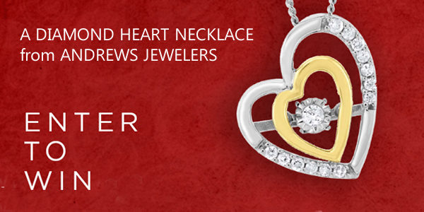 Andrews Jewelers Lucky In Love Diamond Necklace Giveaway