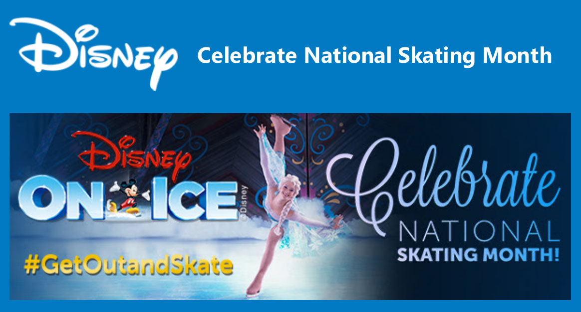Celebrate National Skating Month and enter to win amazing Disney On Ice prize including skating lessons with Disney On Ice skaters #GetOutandSkate