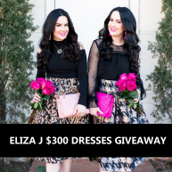 Enter for your chance to win $300 Eliza J Dresses.
