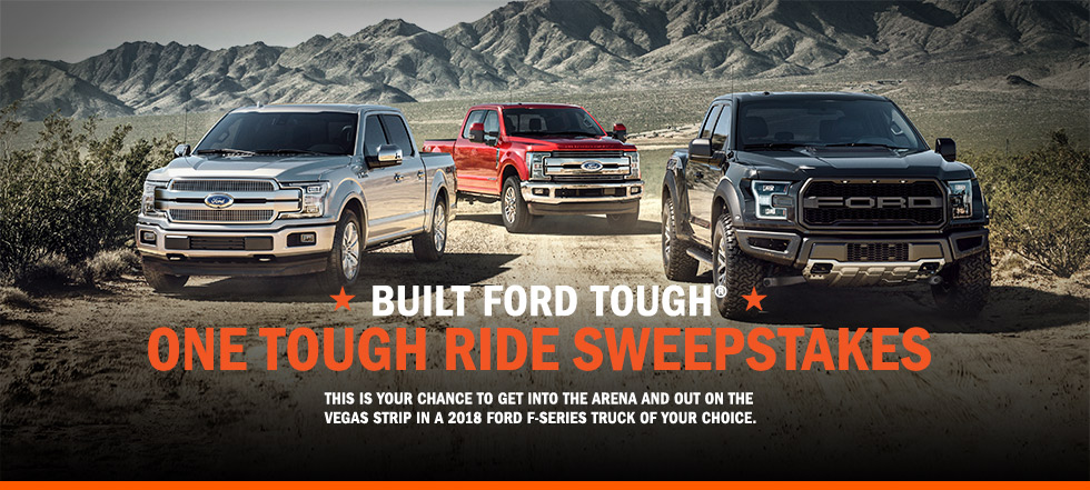 Enter for your chance to win a 2018 Ford vehicle of your choice worth $30,000!