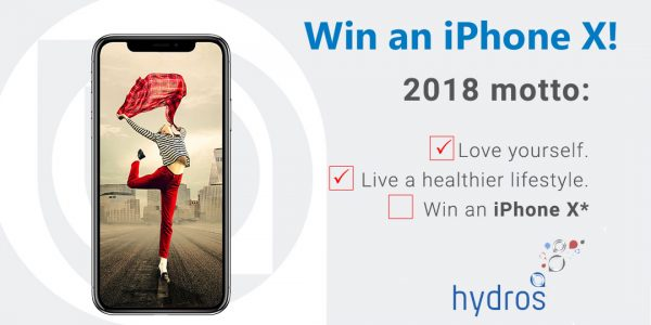 Enter for your chance to win iPhoneX valued at $1,000 from Hydros Life.