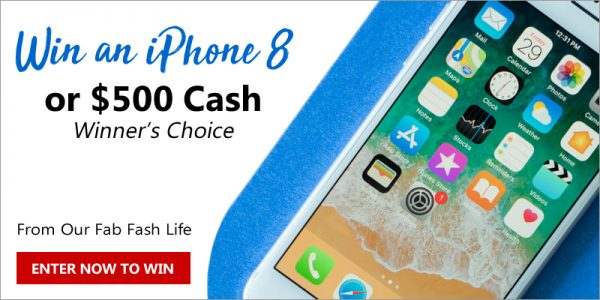 Enter to win an iPhone 8 in Rose Gold OR $500 in Cash! From Our Fab Fash Life http://bit.ly/2ssExax