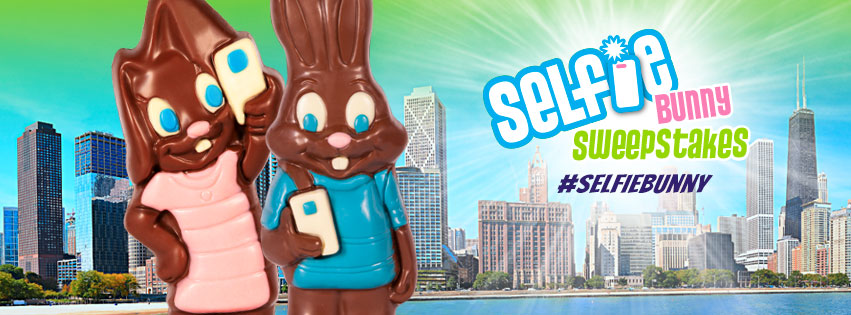 For a Chance to WIN a Sweet Trip from R.M Palmer. Snap a selfie with your Selfie Bunny and enter below for a chance to WIN a trip for two to Chicago and visit the 2018 NCA Sweets & Snacks Expo as a guest of R.M. Palmer Company or one of 105 other prizes