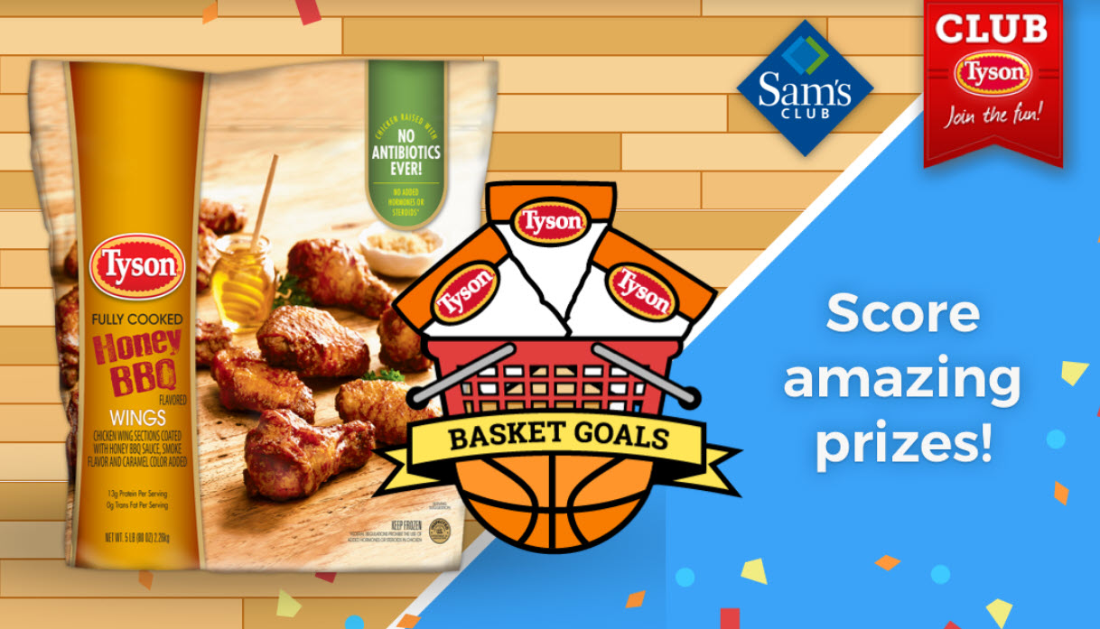 Club Tyson is giving away some really awesome prizes like a $100 Sam's Club gift card, indoor basketball arcade game, robotic vacuum, and a $1,500 experience for two to attend the 2019 National Championship game in Minneapolis!
