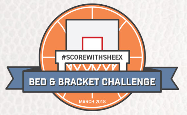 Enter the #ScoreWithSHEEX Bed & Bracket Sleep Challenge during #MarchMadness for your chance to win a complete SHEEX Sleep System or a weekly prize.