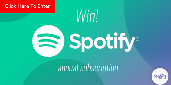 Who wants to win a FREE one-year Spotify subscription valued at $120?