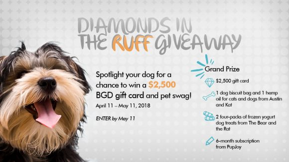 Diamonds in the Ruff $2,500 Giveaway