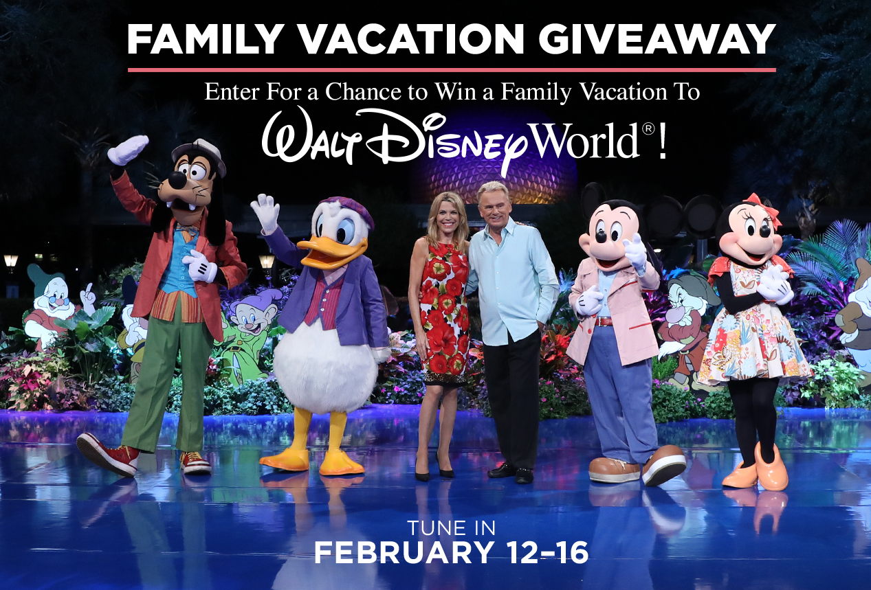 QUICK ENDING! Wheel of Fortune Family Vacation Giveaway III. Win a trip to #Disney