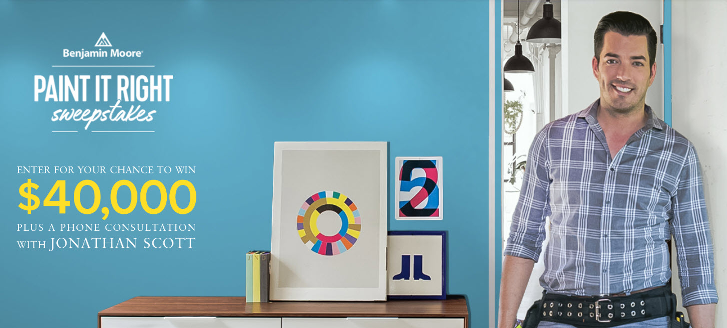 Benjamin Moore HGTV Paint It Right Sweepstakes