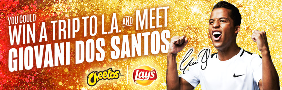 Play the Cheetos & Lay's Soccer Instant Win Game for your chance to instantly win awesome prizes like a signed soccer ball or jersey! You could even score the Grand Prize, a trip to Los Angeles to meet Giovani Dos Santos