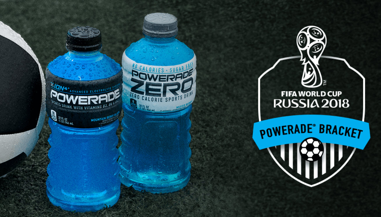 Power up for the Fifa World Cup with Powerade and Win! Play the Powerade FIFA Instant Win Game and you could win one of over 5,300 prizes
