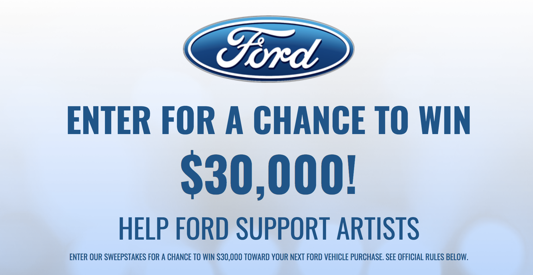 BYG Music Ford $30,000 Sweepstakes