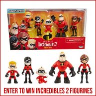 To celebrate Dole's Incredibles 2 themed recipes, Dole and Jakks Pacific are partnering with The Healthy Mouse to give away an Incredibles 2 family figurine set from Jakks Pacific, as well as a 4 pack of movie tickets to see Incredibles 2 in theaters!