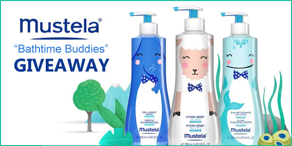 "5 WINNERS! Enter now to win a $100 Mustela gift code and a set of Mustela's NEW Limited Edition ""Bathtime Buddies"" http://bit.ly/2t3QzUX"