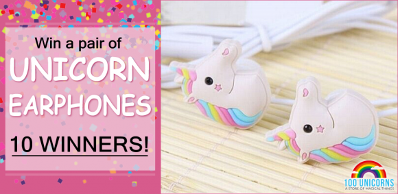 100Unicorns.com isgiving away 10 adorable (and colorful) Rainbow Unicorn Earphones. A fun and magical addition to an iPod, iPhone or any cellular device.