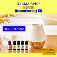 Enter for your chance to win the Utama Spice Deluxe Aromatherapy Kit.
