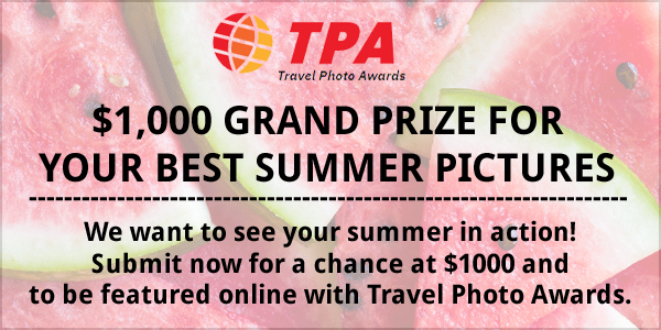 We want to see your summer in action! Submit now for a chance at $1000 and to be featured online at https://www.travelphotoawards.com