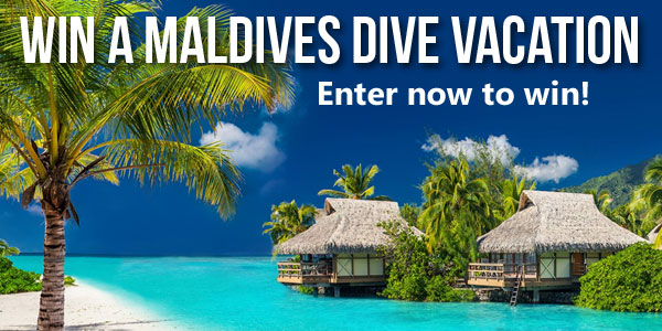 Here's your chance to win the dive vacation of a lifetime to the tropical nation of Maldives!