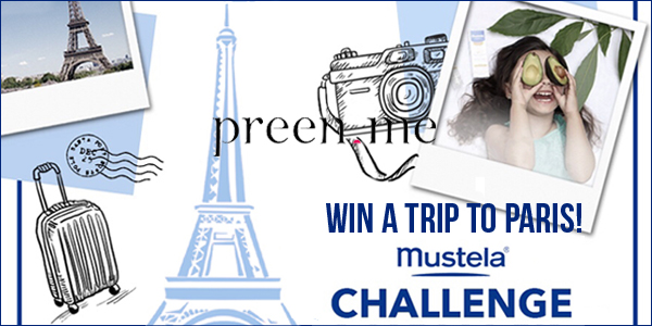 Enter for your chance to win one of four #Mustela product sets worth $300 and be entered to win the grand prize, a trip for four to Paris up to $10,000