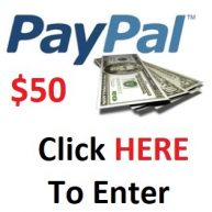 Win $50 PayPal