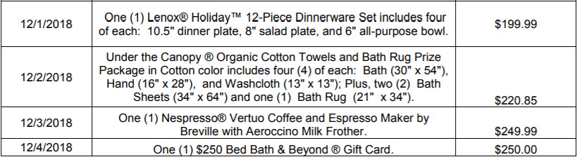 Bed Bath & Beyond Gnome for the Holidays Instant Win Game (Daily Winners)