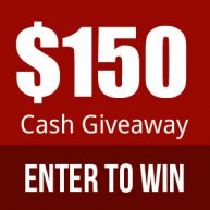 Enter to win $150 cash