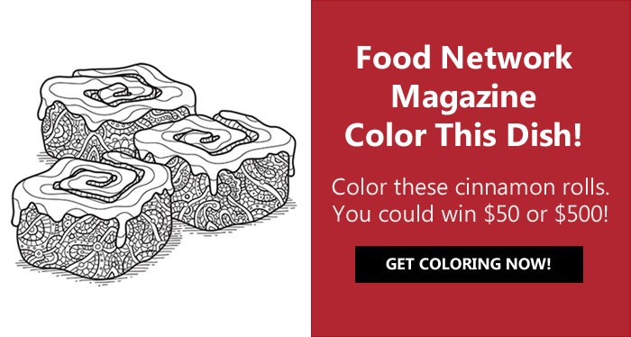 Food Network Magazine December Color This Dish Contest
