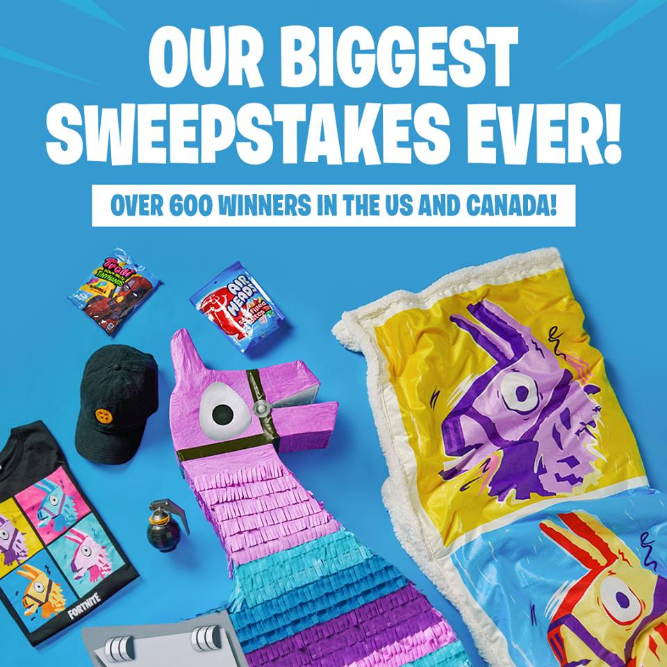 Spencer Gifts Fortnite Piñata Sweepstakes (Over 600 Winners