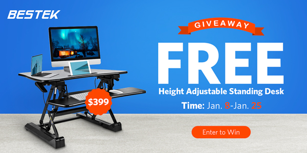 BESTEK Adjustable Desk Giveaway