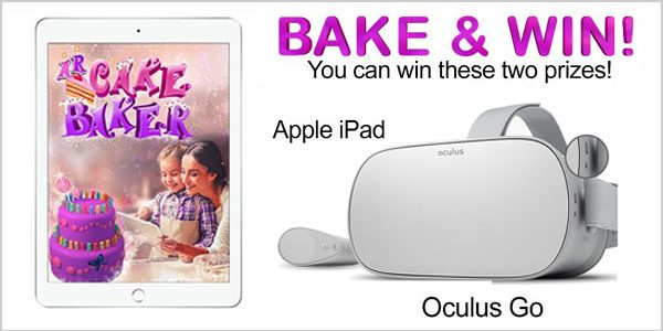 Enter for your chance to win anApple iPad an Oculus Go VR headset from AR Cake Baker - Magic for Kids byInspire Creative Imagination VR Littles.