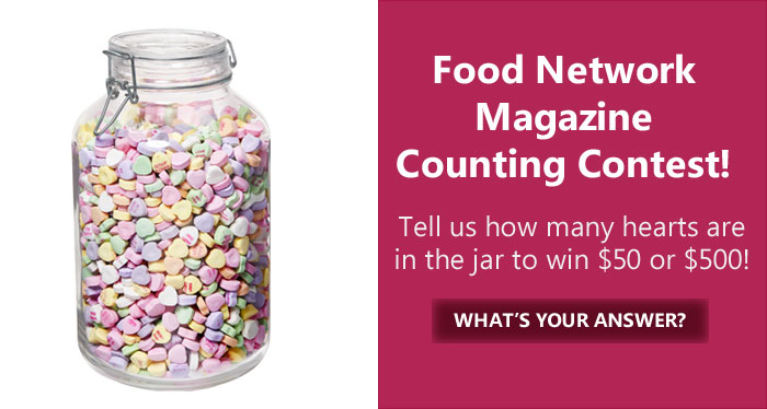 Guess how many Valentine's conversation hearts are in the jar and you could win big! The grand prize winner will receive $500, and three runners-up will each receive $50!