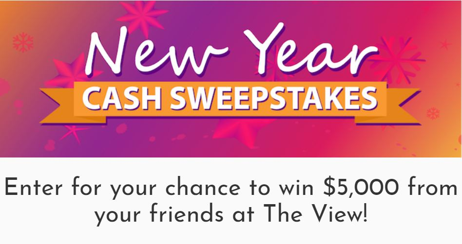 The View's New Year $5,000 Cash Giveaway | SweetiesSweeps com