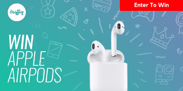 Enter for your chance to win a pair of Apple AirPods valued at $160.