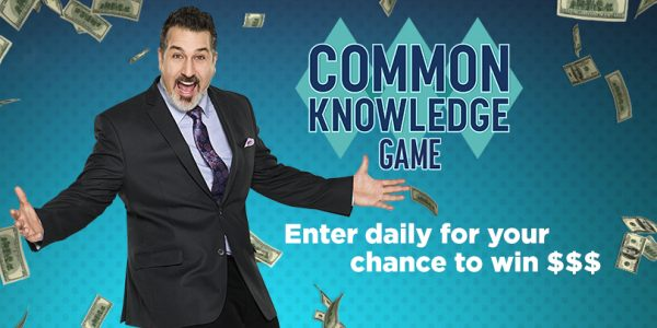 Enter for your chance to win a $500 when you enter the Game Show Network Common Knowledge Sweepstakes. Enter daily and share to get bonus referral entries. Play the Common Knowledge Web Game! Play through the final round to earn an entry.