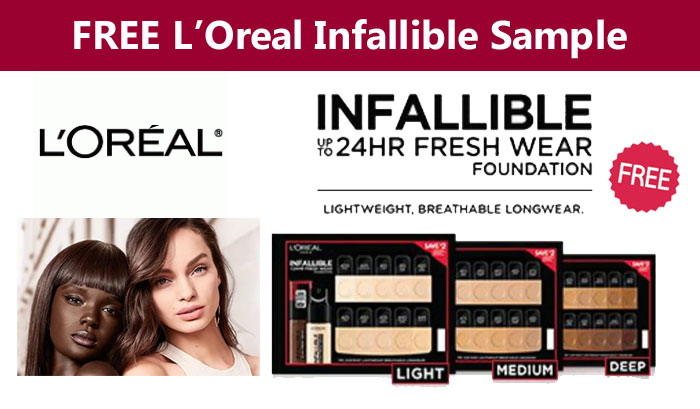 Free L'Oreal Infallible Fresh Wear Foundation Sample