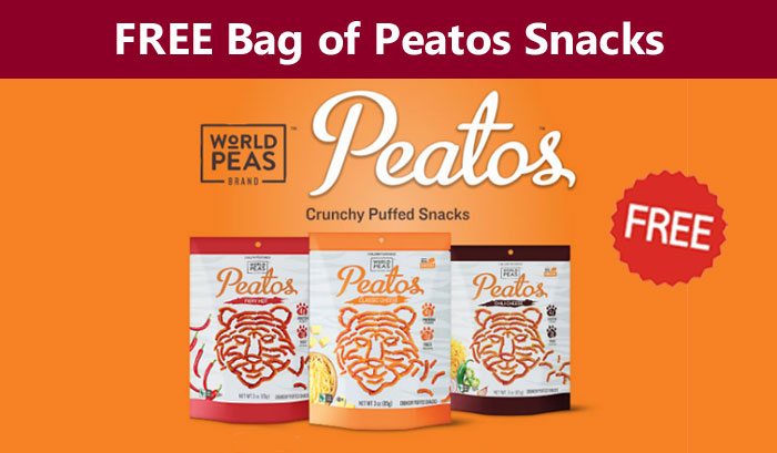 Free Peatos Crunch Puffed Snacks Coupon ($2.99 Value)