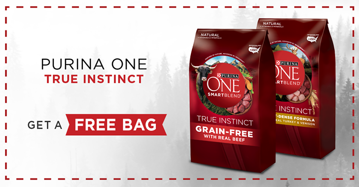 Free Bag of Purina One True Instinct Pet Food Coupon ($9.99 Value)